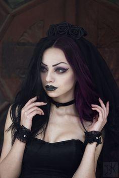 Model / MUA: Darya Goncharova Photography: B.Kostadinov Veil / Choker / Cuffs: Sinister from The Gothic Shop