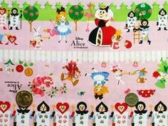 So cool -  JAPANESE COTTON PRINT FABRIC, ALICE IN WONDERLAND KAWAII PINK GOTHLOLI, GOTHIC AND LOLITA 3 by JapanLovelyCrafts, via Flickr