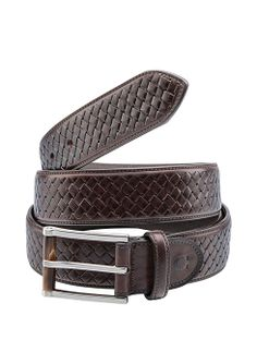 A calfskin interwoven belt for a distinctive touch - Giovanni's look #ledizione #200steps #canali1934