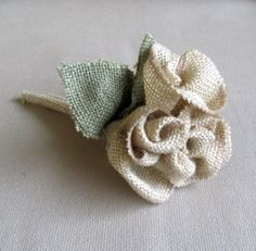 simple Burlap Bouquet by pineconeshoppe on Etsy, $29.00