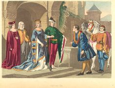 English Medieval Clothing | Photo Credit || One example of the styles worn during this time period ...