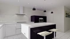 Why not try adding a bit of plum to your cabinetry?