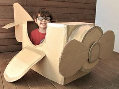 DIY Cardboard Airplane