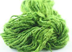 Lime Green Banana Fiber Yarn from DGY