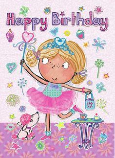 Helen Poole - GC35019 girl 5 fairy card.jpg | HAPPY ...