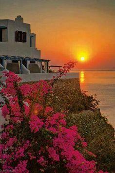 Sunset in Tilos island