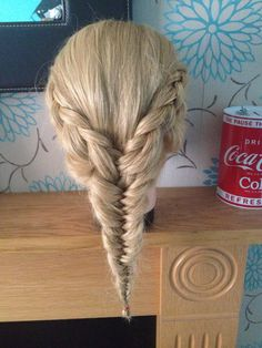 3 strand braid in to a 2 strand braid.
