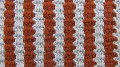 The Two Color Interlocking Block Stitch is a colorwork stitch with a lot of visual impact. Using only chains and double crochet stitches, this stitch forms into a strong vertical stripe pattern. Easy to make, it would work well for bags or cushion covers. Crochet Block Stitch, Crochet Blocks, Crochet Stitches Patterns, Crochet Designs, Stitch Patterns, Free Crochet, Knit Crochet, New Stitch A Day, Crochet Videos