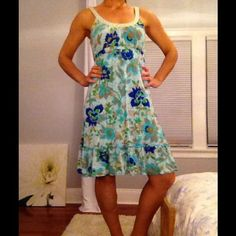 {I ❤ OFFERS} Floral FP Dress {HOST PICK} The colors in this dress are gorgeous.  Just a bit too long for me.  Cute little beads around the neckline.  Ties around the waist for adjustability. Free People Dresses