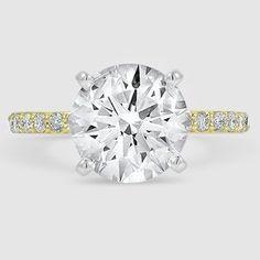 18K Yellow Gold Petite Shared Prong Diamond Ring (1/4 ct. tw.)