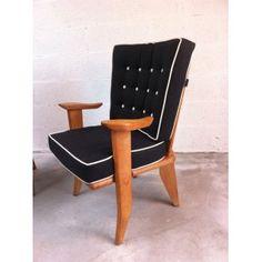 Pair of Votre Maison armchairs in oak, GUILLERME & CHAMBRON - 1950s