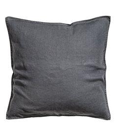 "Accent Decorative Throw Pillow Cover 100% Linen Throw Pillow Cover Cushion 20 x 20"" (Charcoal Gray) Cushion Cover http://www.amazon.com/dp/B00OMBEZLI/ref=cm_sw_r_pi_dp_3tv0ub1WSG68A"