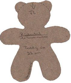 Simple Teddy Bear Pattern to use for felt/patchwork teddies
