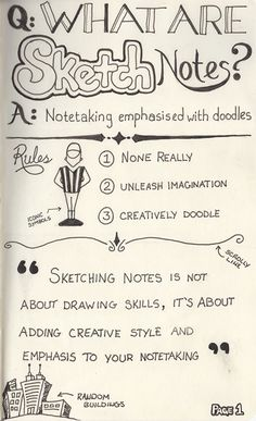 What are sketchnotes - how to get over my fear of doing things & i. - What are sketchnotes – how to get over my fear of doing things & in my journal. Study Skills, Drawing Skills, Drawing Classes, What Is Sketch, Formation Management, Visual Note Taking, Visual Thinking, Doodles, Ap Biology