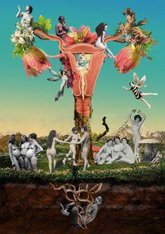 Ginecosofia. Trabalho desenvolvido para www.ginecosofia.com #uterus #collage #womenpower #sagradofeminino