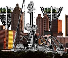 Archigram. Plug-in City, 1962-1966. Surreal and dynamic, are the words I would use to describe this piece of work.
