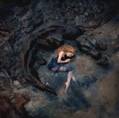 Fantasy | Magical | Fairytale | Surreal | Enchanting | Mystical | Myths | Legends | Stories | Dreams | Adventures | grey princess with stone dragon