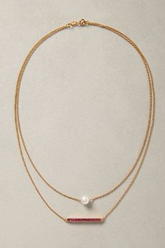 Perched Pearl Necklace  anthropologie.com #anthroregistry