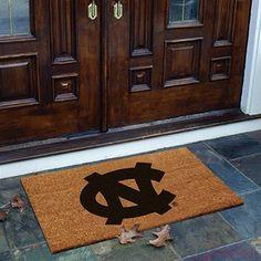 North Carolina Tar Heels (UNC) Flocked Coir Door Mat