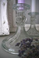 Pressed glass candle stick holder. Tilly Loves Vintage