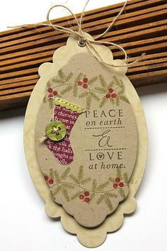 Love Lives Here: Holiday Revisited - Peace On Earth Gift Tag by Heather Nichols for Papertrey Ink (November 2013)