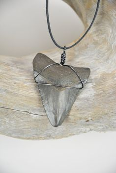 Megalodon Shark Tooth Necklace on Etsy, $36.00
