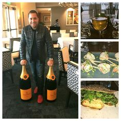 Enjoying the New Year's Eve Veuve Clicquot Champagne Dinner at Waterline Restaurant At Balboa Bay Resort. The food and champagne are amazing ! 🍮🍣🎆🍶🍴🍸🍷