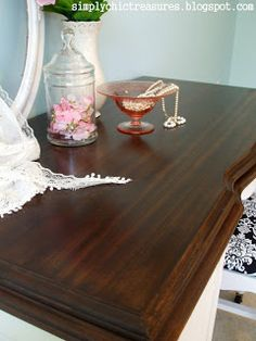 simply chic treasures: A Tutorial On Refinishing Furniture