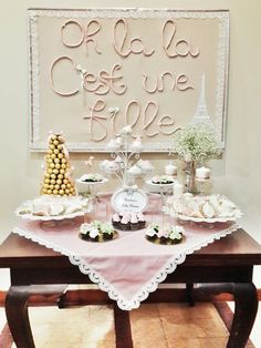 Awwwwwwwwww French themed Baby shower dessert table, and no I am not expecting...yet!