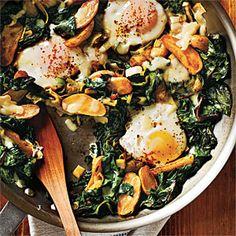 Fingerling Potato-Leek Hash with Swiss Chard and Eggs Recipe