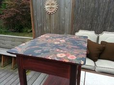 Get Your Craft On! - How To Jazz Up a Table Top with Fabric