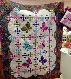 My Butterfly Quilt, Decorative Pillow and Pillowcase