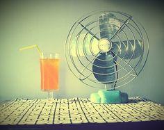 orange soda & a vintage fan, what's not to love?!