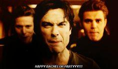 damonjournal: Happy Bachelor Partyyyy!!