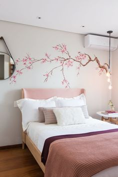[New] The Best Home Decor (with Pictures) These are the 10 best home decor today. According to home decor experts, the 10 all-time best home decor. Bedroom Wall Designs, Room Design Bedroom, Bedroom Murals, Home Room Design, Home Interior Design, Purple Bedroom Decor, Diy Bedroom Decor, Home Decor, Wall Painting Decor