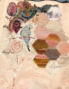 textile and surface design - Claire A Baker - #embroidery #tapestry #stitch  www.facebook.com/claireabaker2