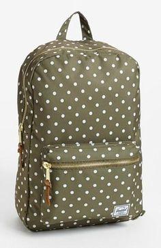 Summer carryall! Olive Herschel Polka Dot Backpack