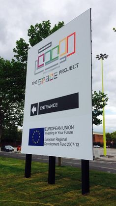 New @SpaceProjectMcr sign, created by apprentice Graphic Designer @SharpFutures