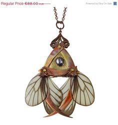 VALENTINES SPECIAL SALE Keiki / Copper Butterfly Necklace with Secret Blades / Valentines Day, Gift for Her, Free Shipping