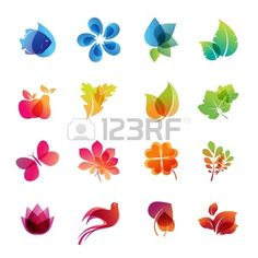 Colorful nature icon set  Stock Vector