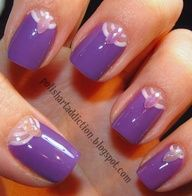Rhinestones at base of nails. New twist. - DIY nail art designs