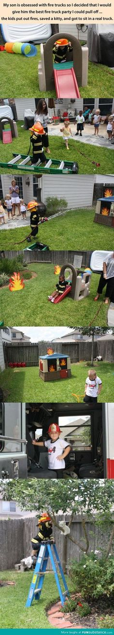 Fireman birthday party - Best idea ever!!! So cute!!!!