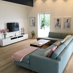 Possible situation of sofa in Zamora 12 Living Room Decor Cozy, Living Room Tv, Home Decor Bedroom, Home And Living, Clean Living, Sofa Design, Home Interior Design, Living Room Designs, Followers
