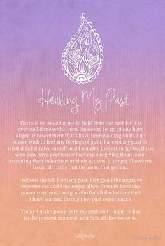 Affirmation - Healing My Past