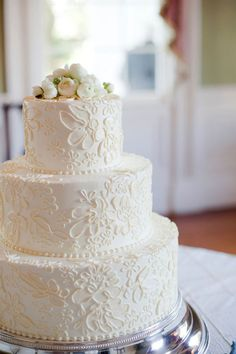 wedding cakes rustic lace - Google Search