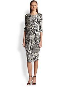 Etro - Animal Paisley Knot-Front Dress