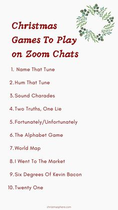 12 Virtual Family Games To Play On A Zoom Chat | Socially Distanced Christmas