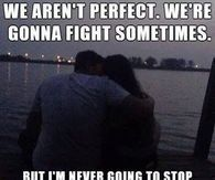 We Aren't Perfect. We're Gonna Fight Sometimes