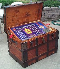 Ideas For Old Trunks | Navy Retirement Shadow Box ideas or Military Shadowbox Idea as a ...