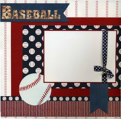 Premade Baseball Scrapbook Page by SusansScrapbookShack on Etsy